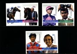AUSTRALIA - 2007  LEGEND OF AUSTRALIA HORSE RACING  SELF ADHESIVE SET MINT NH - 2000-09 Elizabeth II
