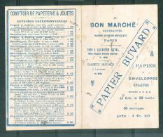 """Buvard """" Au Bon Marché , Maison Aristide Boucicaut """" Tarif Papeterie   - Mala2201 - Stationeries (flat Articles)"""