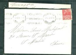 Lac Oblitération Dreyfuss TOU966 - Tours-gare - TOURS/ET SES CHATEAUX/ HISTORIQUE Sur Yt N° 272 / 1932 - Mala2203 - 1921-1960: Modern Tijdperk