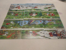 BELGIUM - full puzzle set Digit 12 cards in perfect condition - CHRISTMAS PRICE !!