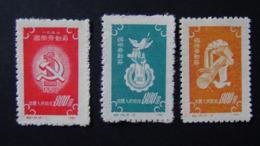 China - 1952 - Mi:CN 143-5, Sn:CN 138-40, Yt:CN 931-3* - Look Scan - Nuevos