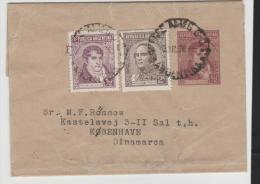 Arg181/ ARGENTINIEN -  Streifband 1928 Nach Dänemark Mit Zusatzfrankatur - Argentinien