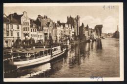 A2961) Danzig Ansichtskarte Langebrücke 1933 Ungebraucht Unused - Danzig