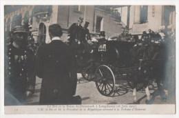 Le Roi Et De La Reine De Danemark à Longchamp (1907) - Le Roi  Et Le Président De La République Arrivent à La Tribune - Familles Royales