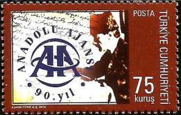 Turkey - 2010 - 90 Years Of Anadolu (Anatolya) Press Agency - Mint Stamp - 1921-... Republik