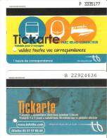 TITRE DE TRANSPORT PARKING + TRAMWAY BORDEAUX CONDUCTEUR + PASSAGER TICKARTE - Tramways