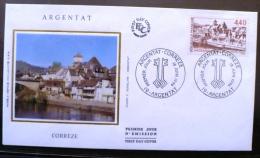 FRANCE PONT, PONTS. ARGENTAT. Yvert N° 2894 Sur FDC Sur Soie. Enveloppe Premier Jour. 1° Jour (viaduc) - Ponts
