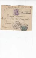"""ITALIA 1916 - Assicurata  Amb. Roma/Ancona (a Torre Dei Passeri) - Ineterssante Scritta """"contenente Denaro"""" - 1900-44 Victor Emmanuel III."""