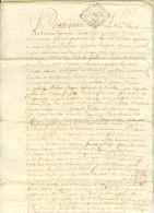 France - 33 - Bordeaux -  Cachet Généralité N° 234 - Deux Sols Sur Achat Par Licitation De 1741 - Algemene Zegels