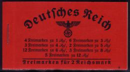 MH 38.1 Hindenburg 1939 - 1. Deckelseite üblich Gefaltet - Sonst Sauber ** - Markenheftchen