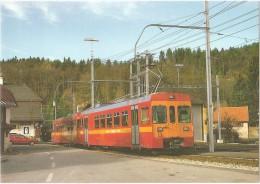 TRAIN Suisse - EISENBAHN Schweiz - Gare De SAINT-CERGUE - Autorail (tramway) - Photo E. Rahm - Gares - Avec Trains