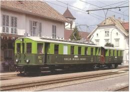 TRAIN Suisse - EISENBAHN Schweiz - SAIGNELÉGIER (gare) - Automotrice (autorail) BCe 2/4 70 - Photo M. Gross - Tramway - Gares - Avec Trains