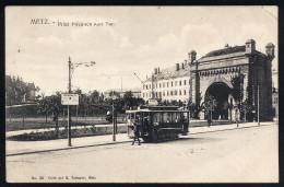 A2965) Metz Ansichtskarte Mit Strassenbahn 1.10.1914 Gebraucht Used Tramway - Metz