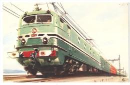 TRAIN France - Locomotives Modernes - Une Des 60 Locomotives électriques, Type CC 7100 De La S.N.C.F. (CC 7121) - Trains