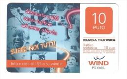 WIND 10 Euro - SCHEDA TELEFONICA - TELEFONO - RICARICA - Schede GSM, Prepagate & Ricariche
