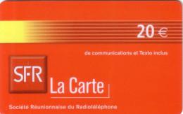 REUNION RECHARGE SFR 20€ JAUNE YELLOW VALID 01.05 UT - Reunion