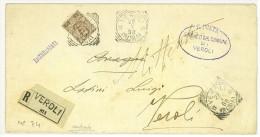 STORIA POSTALE - ITALIA REGNO - LETTERA 40 C. ISOLATO - SASS N° 74 - DA VEROLI PER CITTA' - 1900-44 Vittorio Emanuele III