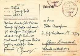 """Feldpostkarte Mit """"interessanter Rückseite"""" - Guerre 1939-45"""