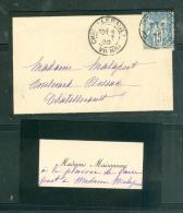 Faire Part  Fiançaille Fille De Mme Maisonnay Avec Monsieur Paul Auvinet , Chatellerault Oct 1899 Mala2308 - Fiançailles