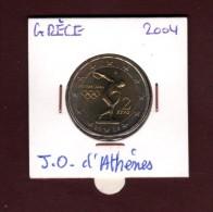 2004 - GRECE  - Pièce  De  2 €.  Commémorative  -  Jeux Olympique D´ Athènes  -  2 Scannes - Grecia