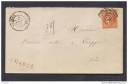 Très Belle Lettre Chargée Avec Bordeaux N°48 40c Rouge Sang ( 20c De Port Et 20c De Chargement) - 1849-1876: Période Classique