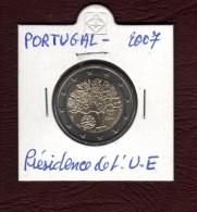 2007 - PORTUGAL  - Pièce  De  2 €.  Commémorative  -  La Présidence De L' Union Européenne  -  2 Scannes - Portugal