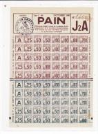 FRANCE BON DE PAIN  1941J2A  COMPLET  N° 1460/35 CACHET MAIRIE DE NANTERRE - France