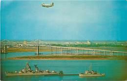 NAVAL SHIPS AND THE COOPER RIVER BRIDGE CHARLESTON - Charleston
