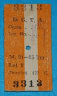 1967 - Romania - D.G.T.A. Dorohoi - bus ticket2