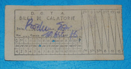 1960s - Romania - D.G.T.A.- bus ticket