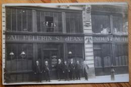 Carte Photo Animée : Au Pélerin St-Jean  Bureaux Et Magasins - Localisation Incertaine (St-jean-Pied-de-Port ?) - N°3216 - Magasins