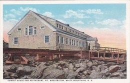 New Hampshire White Mountains Summit House And Restaurant Mount Washington