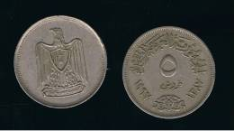EGIPTO -   5  Piastres 1967   KM412 - Egipto