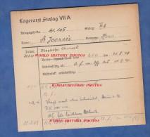 Fiche Ancienne - STALAG VII A - Prisonnier Henri SAINT JOANIS / JOANNES / JOANNIS , De Thiers - 298e Régiment - WW2 Pow - 1939-45