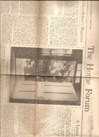 BOSTON USA THE HOME FORUM THE CHRISTIAN SCIENCE MONITOR  TUESDAY JUNE 26 1945 - Religion/ Spiritualisme