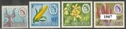 RHODESIA 1967 - Definitives  Mi. 57/60 Serie Cpl. 4v. Nuovi* Perfetti - Zimbabwe (1980-...)