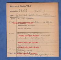 Fiche Ancienne - STALAG VII A - Prisonnier Etienne SASSUS BOURDA De Poey Sur Lescar - 24e RAD- WW2 Pow - 1939-45
