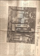BOSTON USA THE HOME FORUM THE CHRISTIAN SCIENCE MONITOR  TUESDAY MAY 14 1946 - Religion/ Spiritualisme