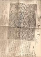 BOSTON USA THE HOME FORUM THE CHRISTIAN SCIENCE MONITOR SATURDAY MAY 11 1946 - Religion/ Spiritualisme