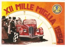 Brescia-Ferrara-Roma-Bres Cia  -  Mille Miglia Storica 1994  -  Alfa Romeo  -  Art Carte Par Aldo Brovarone  -  CP - Sport Automobile