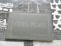 Carnet  De 12 Cp  Sur  Criel  - Plage - Criel Sur Mer