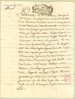 France - 33 - Bordeaux -  Cachet Généralité N° 183 - I Sol - IV Den Sur Quitance De 1718 - Algemene Zegels