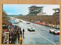 CPSM - LE DEPART DES 24 HEURES DU MANS 1968 24h . PORSCHE 908 N°31et N°32. - Le Mans