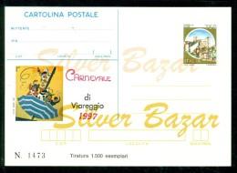 INTERO POSTALE -  INTERI POSTALI - CARTOLINA POSTALE - IPZS - I.P.Z.S-VIAREGGIO - CARNEVALE - 6. 1946-.. Repubblica