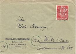 1944 Geschäftsbrief Eduard Rössner Annaberg (Vollstempel) - Germania