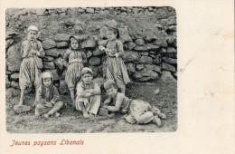 JEUNES PAYSANS LIBANAIS  CARTE (TURQUE) CARTE PRECURSEUR