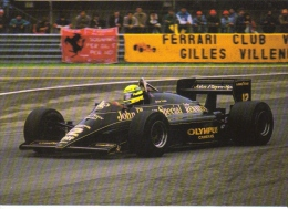 Grand Prix  -   Ayrton Senna  -  Lotus-Renault F1  -  Carte Postale - Grand Prix / F1