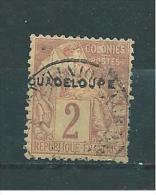 Colonie Timbre De Guadeloupe De 1891  N°15 Oblitéré - Used Stamps