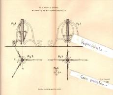 Original Patent - H.E. Hopf In Leipzig , 1882 , Christbaumständer , Weihnachtsbaumständer , Weihnachten !!! - Schmuck Und Dekor