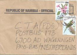Namibia 2006 Oshakati 9 Bea-eater Flower Overprint N$3 Over 10c Cover - Namibië (1990- ...)